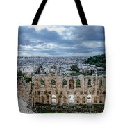 Odeon Of Herodes Atticus - Athens Greece Tote Bag