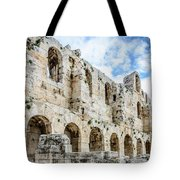 Odeon Stone Wall - Athens Greece Tote Bag