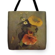 Odilon Redon - Vase With Poppy, Camomile And Bindweed Tote Bag
