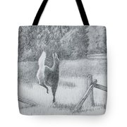 Off She Goes Tote Bag