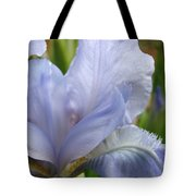 Office Art Blue Iris Flower Floral Giclee Baslee Troutman Tote Bag