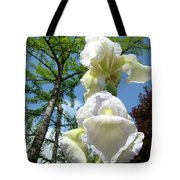 Office Art Giclee Prints White Yellow Iris Flowers Irises Baslee Troutman Tote Bag