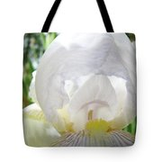 Office Art Irises White Iris Flower Floral Giclee Prints Baslee Troutman Tote Bag