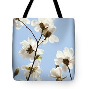 Office Art Prints Blue Sky White Magnolia Flowers 38 Giclee Prints Baslee Troutman Tote Bag