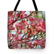 Office Art Prints Pink Flowering Dogwood Trees 18 Giclee Prints Baslee Troutman Tote Bag