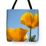 Office Art Prints Poppies Poppy Flowers Blue Skies Giclee Baslee Tote Bag
