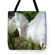Office Art White Iris Flowers Giclee Art Prints Irises Baslee Troutman Tote Bag