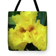 Office Art Yellow Iris Flower Irises Giclee Prints Baslee Troutman Tote Bag