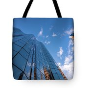Office Buildings And Sky Tote Bag
