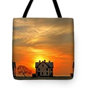 Officer's Row At Sunset Tote Bag