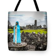 Official Greeter At Ireland's Quin Abbey National Monument Tote Bag