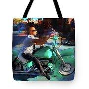 Oh So Turq Biker Tote Bag