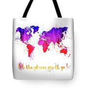 Oh The Places Tote Bag