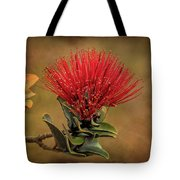 Ohia Lehua Flower Volcanos National Park Tote Bag