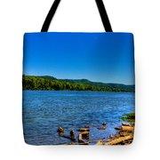 Ohio River Bank Tote Bag