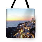 Oia Village In Santorini Island - Greece Tote Bag