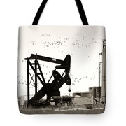 Oil And Birds Tote Bag