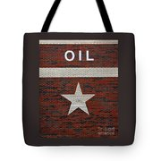 Oil And Texas Star Sign Tote Bag