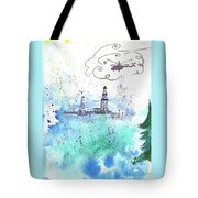 Oil Drilling Tote Bag