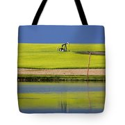 Oil Jack Reflection Saskatchewan Tote Bag