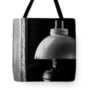 Oil Lamp On Table Tote Bag