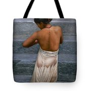 Oil Painting Art-bather On Linen Tote Bag