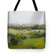 Oil Painting From Mt Cooroy Sunshine Coast Queensland Australia Tote Bag