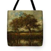 Oil Painting Landscape Tote Bag