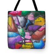 Oil Pastel Abstract Tote Bag