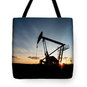 Oil Pumper At Sunset Tote Bag
