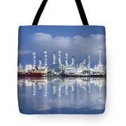Oil Refinery Industry Plant Tote Bag