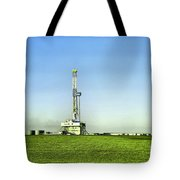 Oil Rig In North Dakota Tote Bag