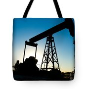 Oil Rig Silhouette Tote Bag