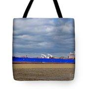 Oil Tanker Ship At Dock Tote Bag