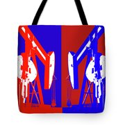 Oil Well Pump Abstract Tote Bag