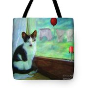 Ok I'll Pose - Painting - By Liane Wright Tote Bag