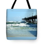 Okaloosa Pier Breaking Tote Bag