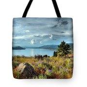 Okanagan Lake In The Spring Tote Bag