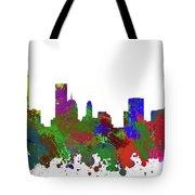 Oklahoma City Skyline Painted Tote Bag