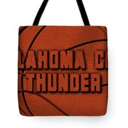 Oklahoma City Thunder Leather Art Tote Bag