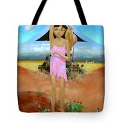Oklahoma Girl With Mt.fuji Tote Bag