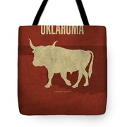 Oklahoma State Facts Minimalist Movie Poster Art Tote Bag