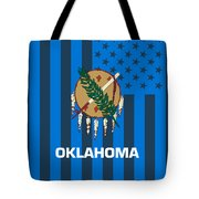 Oklahoma State Flag Graphic Usa Styling Tote Bag