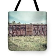 Old Abandoned Box Cars Central Vermont Tote Bag