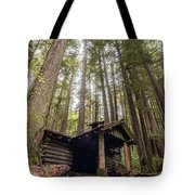 Old Abandoned Cabin In The Woods Tote Bag