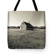 Old Abandoned Farm Building Tote Bag