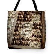 Old Accounting Wooden Abacus Tote Bag