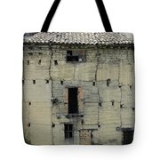 Old Adobe Building In Otavalo Tote Bag