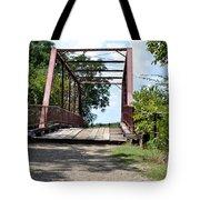 Old Alton Bridge In Denton County Tote Bag