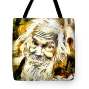 Old And Happy Man Tote Bag